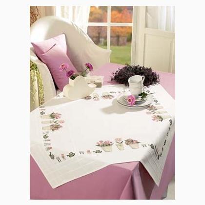 nappe promenade dans le bois blanc de rico design pour la maison supports broder. Black Bedroom Furniture Sets. Home Design Ideas