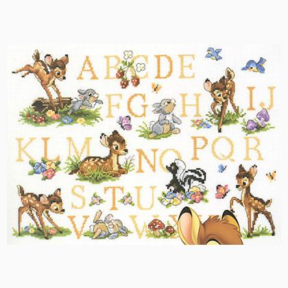 Bambi ab c daire de dmc disney kit au point de croix - Grille point de croix alphabet disney ...