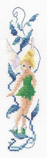 Marque Page Fée Clochette de DMC - Disney© - Kit au point de croix Kits - Casa Cenina