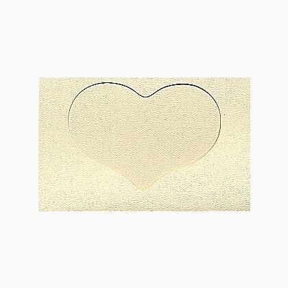 carte avec fen tre coeur grand ivoire de yarntree pour toi pour tout le monde supports. Black Bedroom Furniture Sets. Home Design Ideas