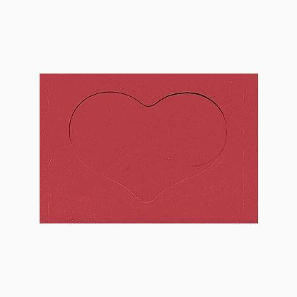 carte avec fen tre coeur grand rouge de yarntree pour toi pour tout le monde supports. Black Bedroom Furniture Sets. Home Design Ideas
