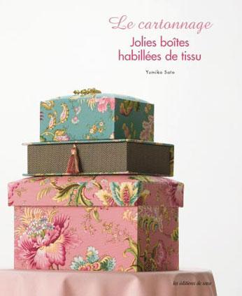 le cartonnage jolies boites habilles de tissu de les dition de saxe livres et magazines. Black Bedroom Furniture Sets. Home Design Ideas