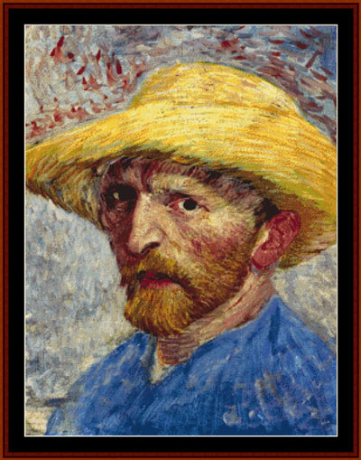 Van gogh autoportrait de cross stitch collectibles - Autoportrait a l oreille coupee van gogh ...