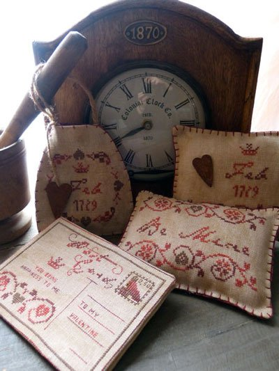 small valentines de the primitive hare grilles point de croix broderie casa cenina. Black Bedroom Furniture Sets. Home Design Ideas