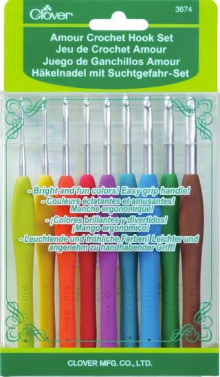Prym ergonomique soft Poignée//Soft Touch//Grip Crochet Crochets 2.5 mm à 6 mm
