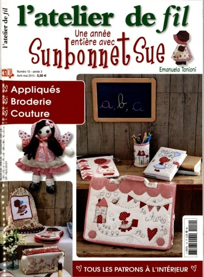 """Résultat de recherche d'images pour """"sunbonnet magazine l atelier de fil"""""""