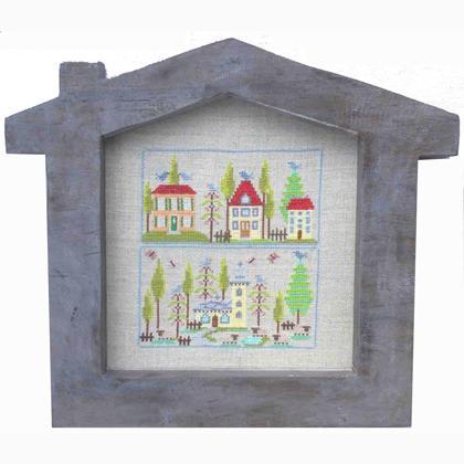 La maison ii de paola gattiblu grilles point de croix - Maison point de croix ...