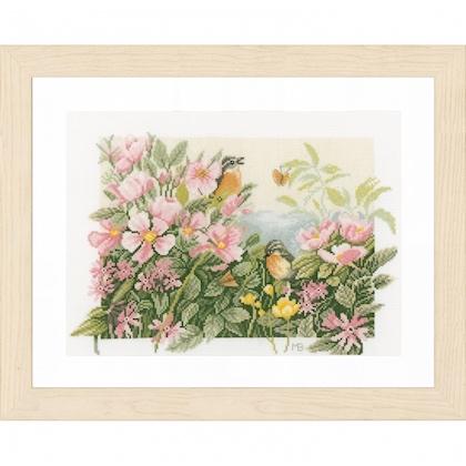 flowers and birds de lanarte - marjolein bastin - kit au point de