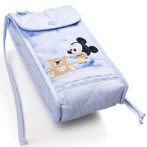 porte biberon mickey mouse bleu ciel de filet enfants supports broder casa cenina. Black Bedroom Furniture Sets. Home Design Ideas