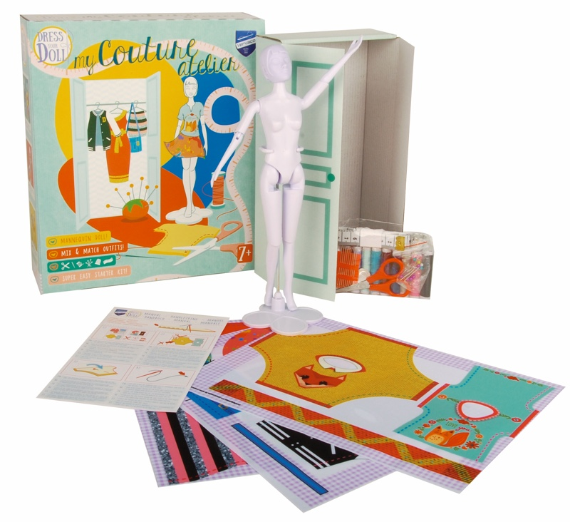 My couture atelier de vervaco dress your doll kits for Boite a couture casa