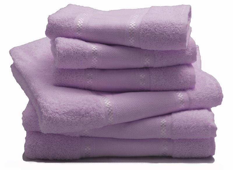 lot de 2 serviettes lilas de grigoletto filati pour la salle de bain supports broder. Black Bedroom Furniture Sets. Home Design Ideas
