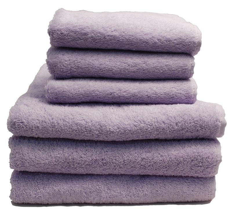 lot de 2 serviettes viareggio lilas de grigoletto filati pour la salle de bain supports. Black Bedroom Furniture Sets. Home Design Ideas