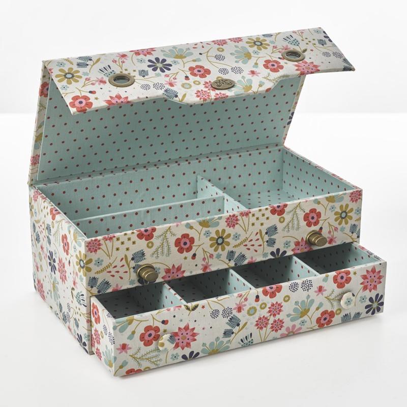 bo te de rangement couture in the garden u1871 de dmc bo tes ouvrage accessoires et. Black Bedroom Furniture Sets. Home Design Ideas