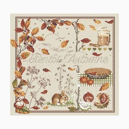 Bient t l 39 automne de madame la f e grilles point de croix grilles point de croix casa cenina - Image automne gratuite imprimer ...