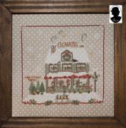 Christmas Window 6 With Button~Sara Guermani