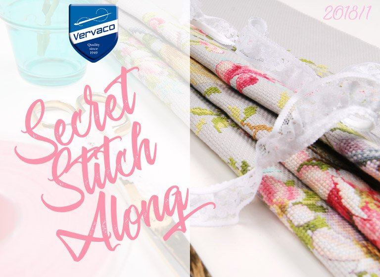 Vervaco Secret Stitch Along 2018 : voici le retour du social stitching griffé !