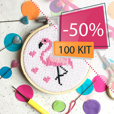 100 Kit au point de croix -50%